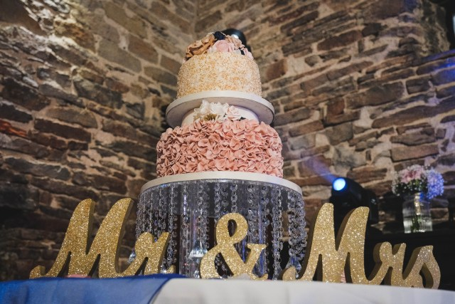 Wedding cake with Mr and Mrs letters