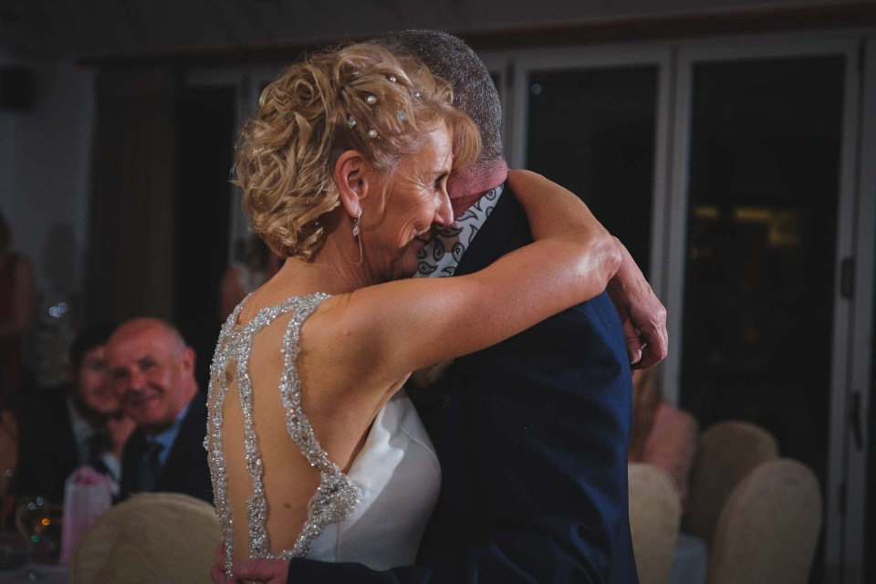 Elegant couple during first dance