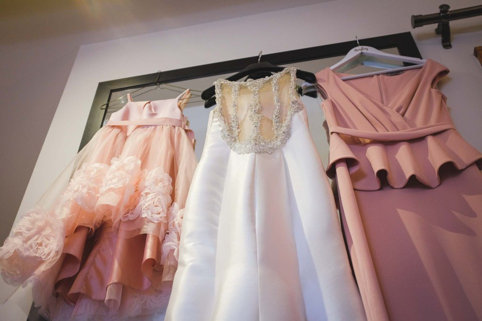 Wedding Photography - The girls dresses hanging together
