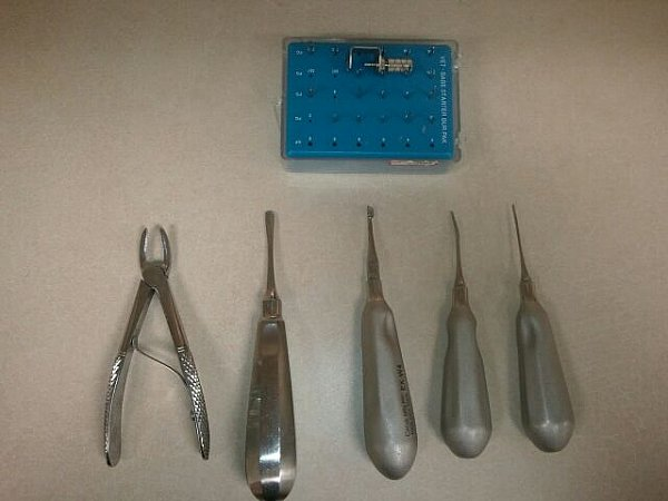 Tools we use to extract diseased teeth.