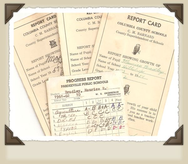 Old Report Cards.