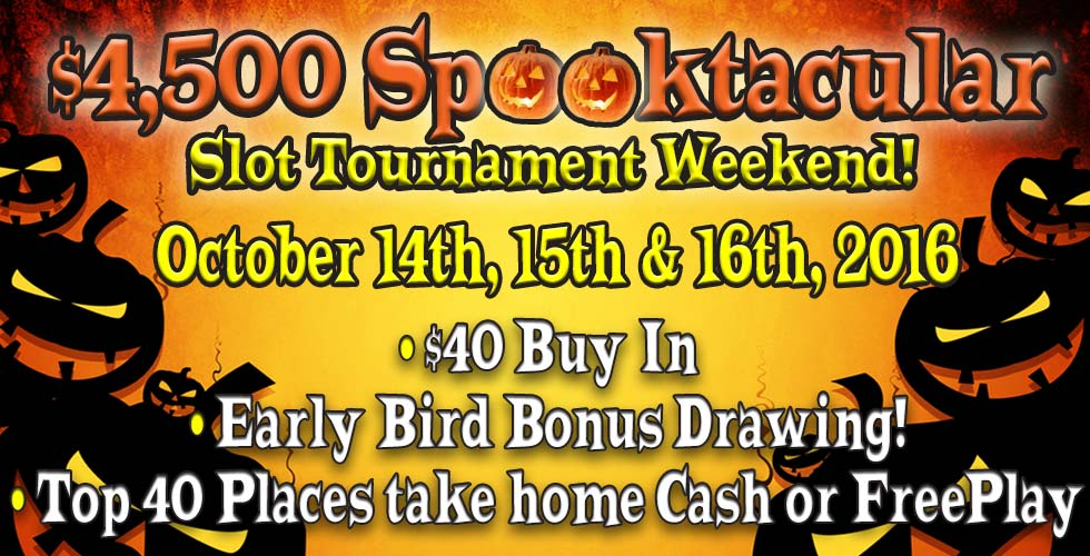 Sands $4,500 Spooktacular Slot Tournament