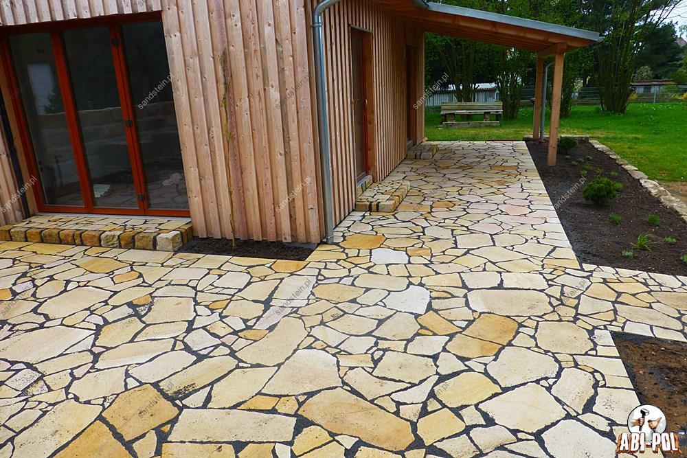 Polygonalplatten terrasse  Mischungsverhltnis zement