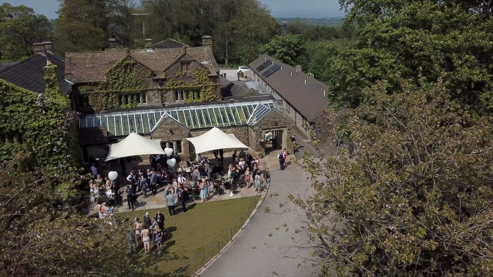 Stirk House wedding drone video image