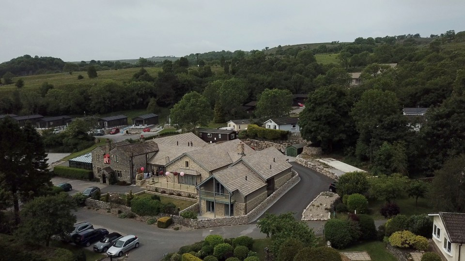 Gamekeeper's Inn Wedding Video venue - drone image by SandS Video
