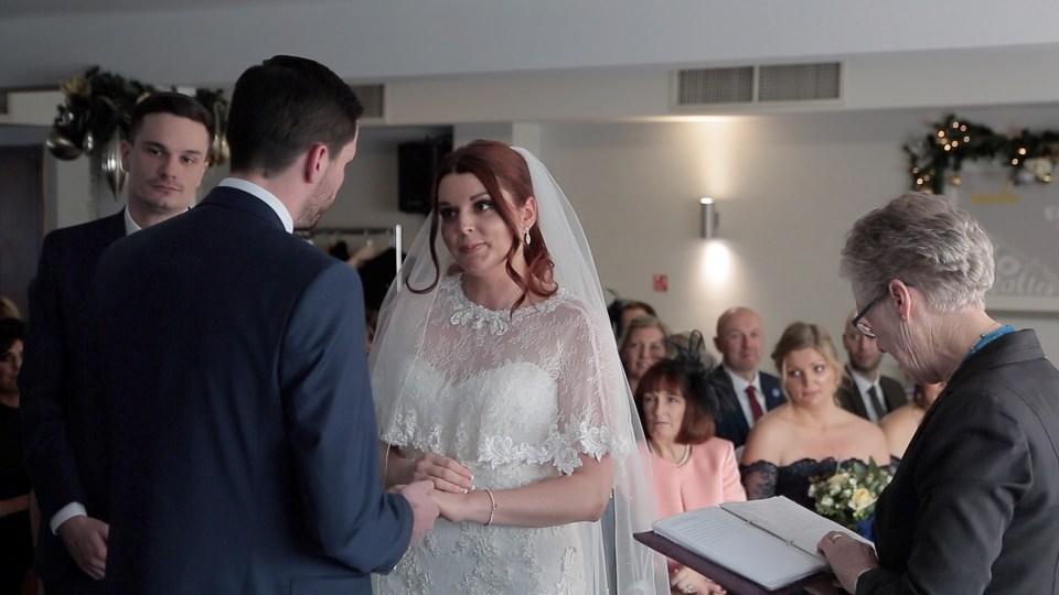 Wedding ceremony video still