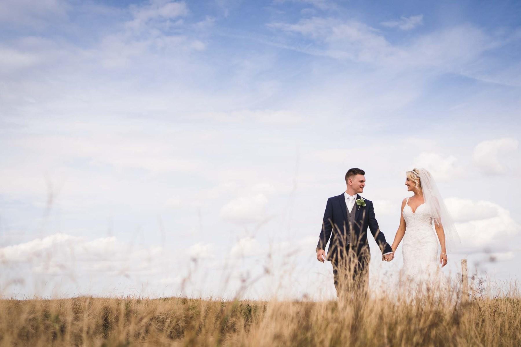 Wirral bride and groom near Leasowe Castle Hotel wedding venue