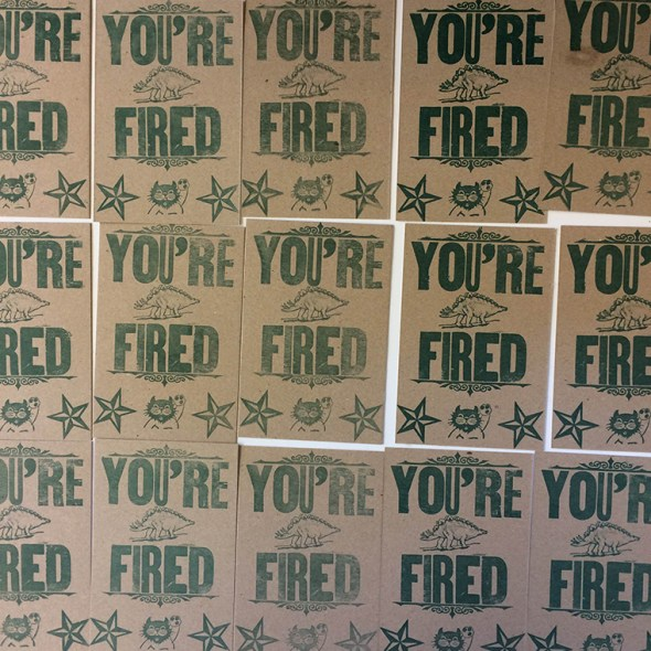 Fired Postcards