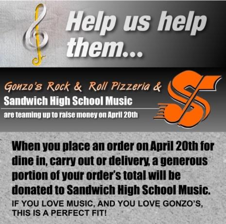 Gonzos Pizza Flyer
