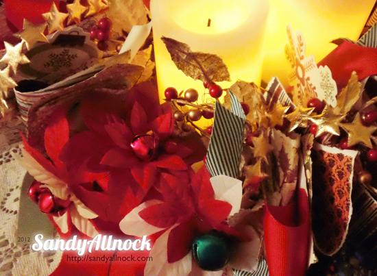 Sandy Allnock - May Arts Scrap Wreath