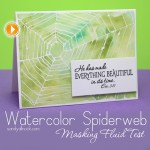 Watercolor Spiderweb (Masking Fluid / Frisket Test)