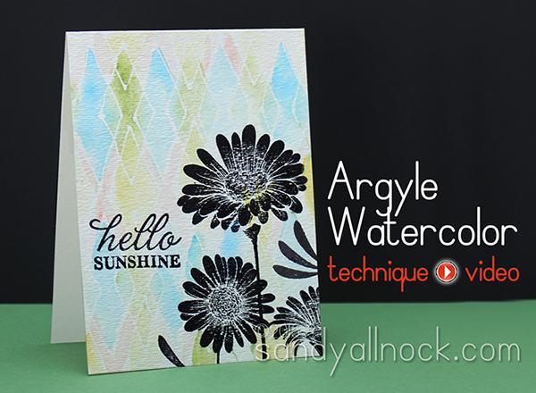 Sandy Allnock Argyle Watercolor