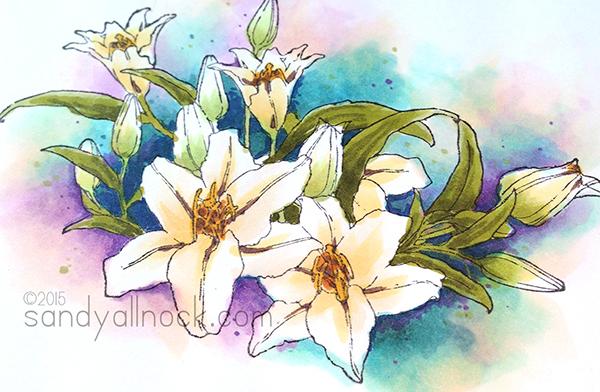 Sandy Allnock - Controlled Copic Watercolor 2