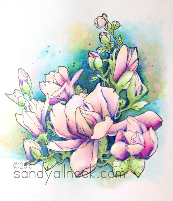 Sandy Allnock - Controlled Copic Watercolor 3