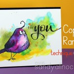 Copic Watercolor: learning from Ranger (Bird Crazy)