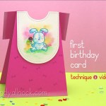 First Birthday Cards – girl and boy outfits