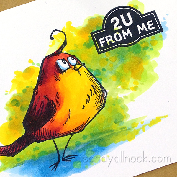 Sandy Allnock - Tim Holtz Bird Crazy, Copic watercolor