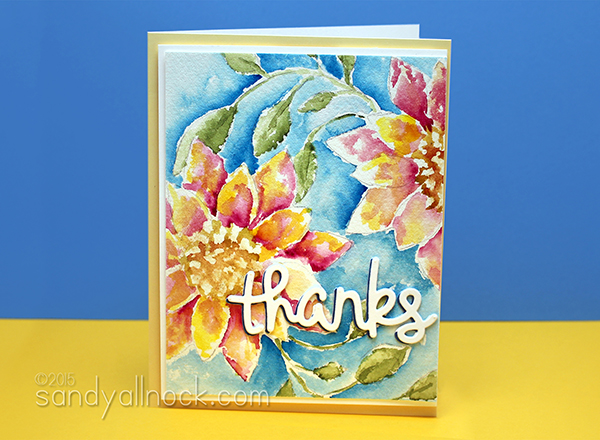 Sandy Allnock Watercolor Flowers 4b