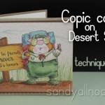 Copic Coloring Tutorial: Desert Storm (kraft-ish) paper