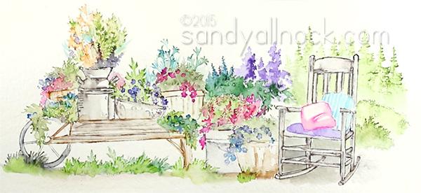 Sandy Allnock - Watercolor scene2