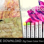 Artists' Coloring Books + Clean Color Pen Labels (free download)