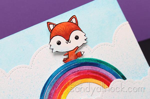 Sandy Allnock - Interactive card - Dr Ph Martins Rainbow Ride