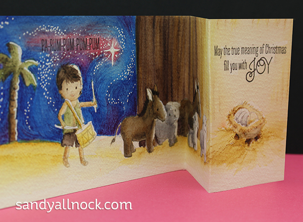 Sandy Allnock Faithbook 5 card fold