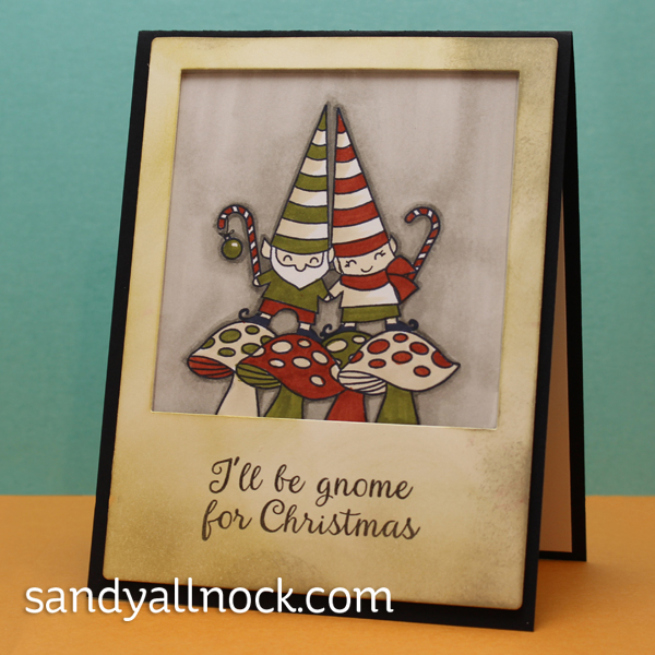 Sandy Allnock - Stamp your own gnome family photo card