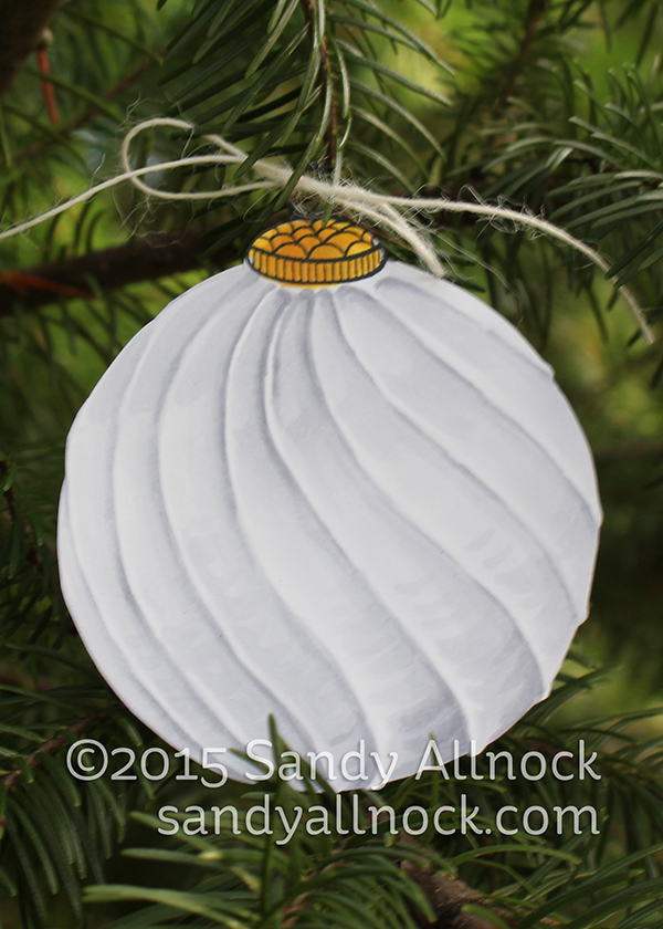 Sandy Allnock - glass round ornament