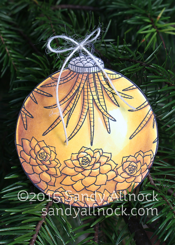 Sandy Allnock - gold ornament