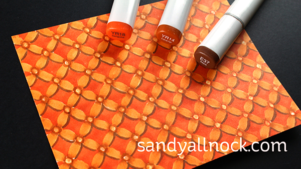 Sandy Allnock Copic patterned papers