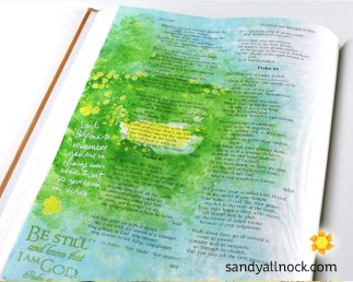 Sandy Allnock Bible Journal Be Still