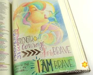 Sandy Allnock Bible Journal Brave