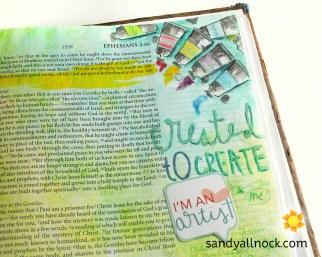 Sandy Allnock Bible Journal Created to Create
