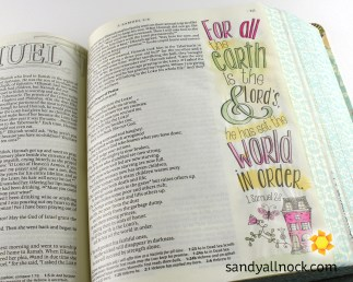 Sandy Allnock Bible Journal Earth is the Lords