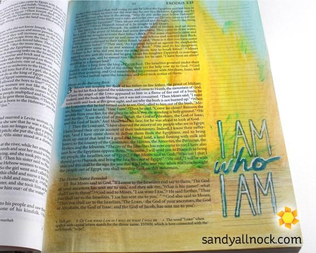 Sandy Allnock Bible Journal I Am