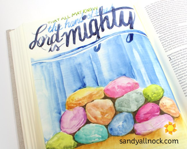 Sandy Allnock Bible Journal Lord is Mighty