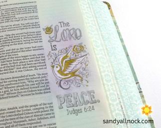 Sandy Allnock Bible Journal Lord is Peace