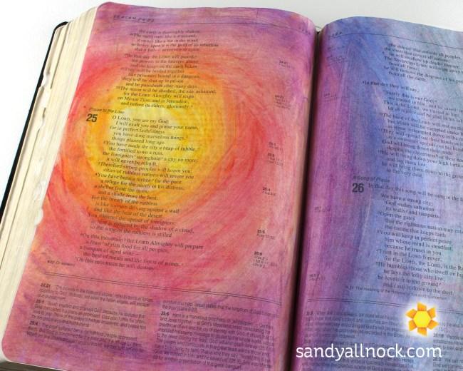 Sandy Allnock Bible Journal Praise Rainbow