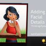 Adding Facial Details: Thinkingofyouabella