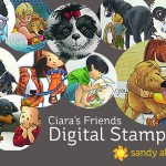 Ciara's Friends – in DigiStamp form!