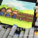 Magical Monday: Color a farm scene