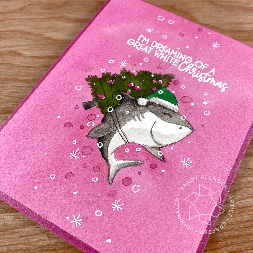 Sandy Allnock Feminine Shark Christmas Card 2