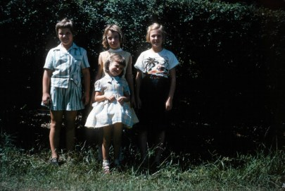 Cabell Powell (she lived on the other side of Three Chopt Road), me, Patsy Tyler, my cousin, Jett.