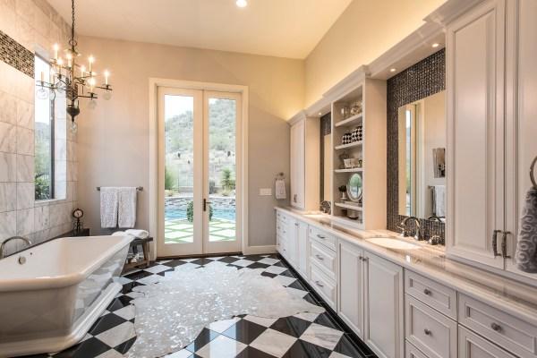 Retro Glam Master Bathroom - Sandy Black Interiors