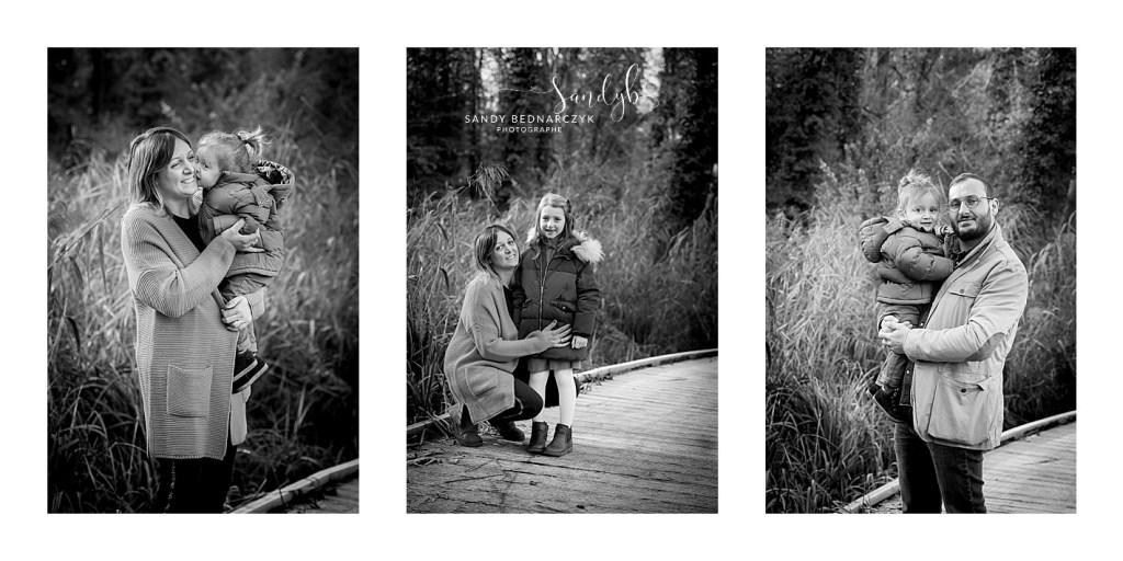 séance famille Chelles en noir et blanc