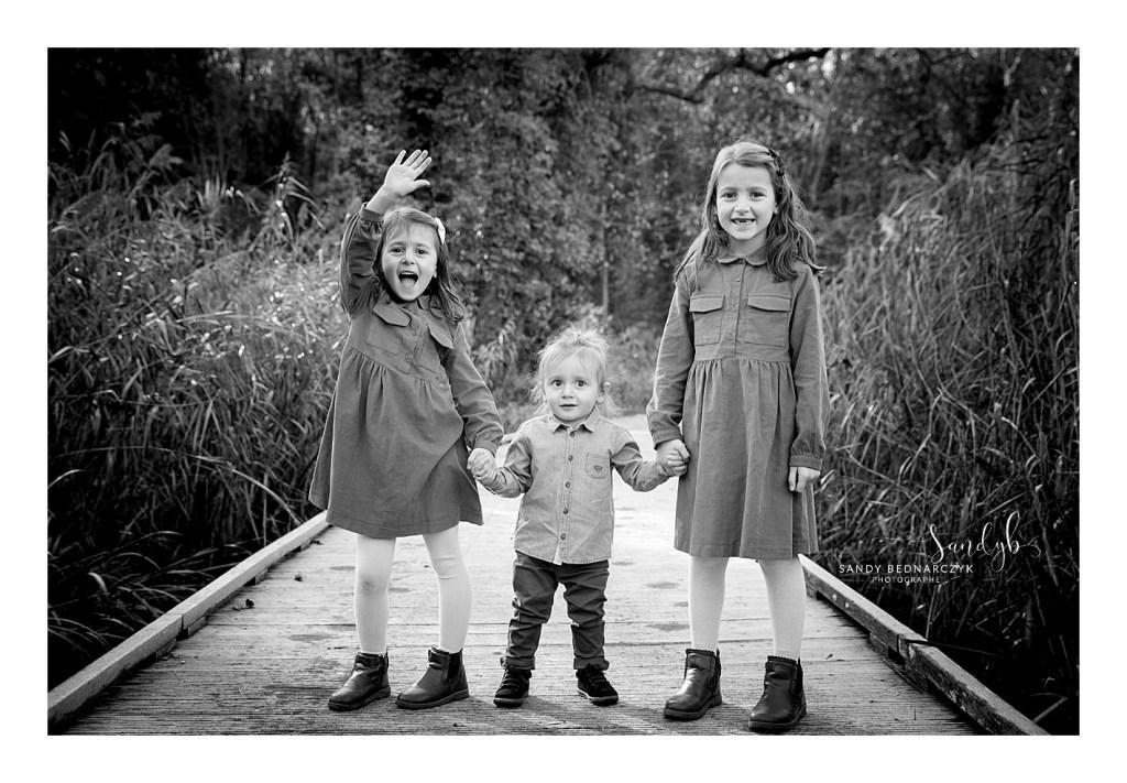 séance famille Chelles noir et blanc