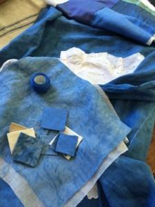 indigo stitching