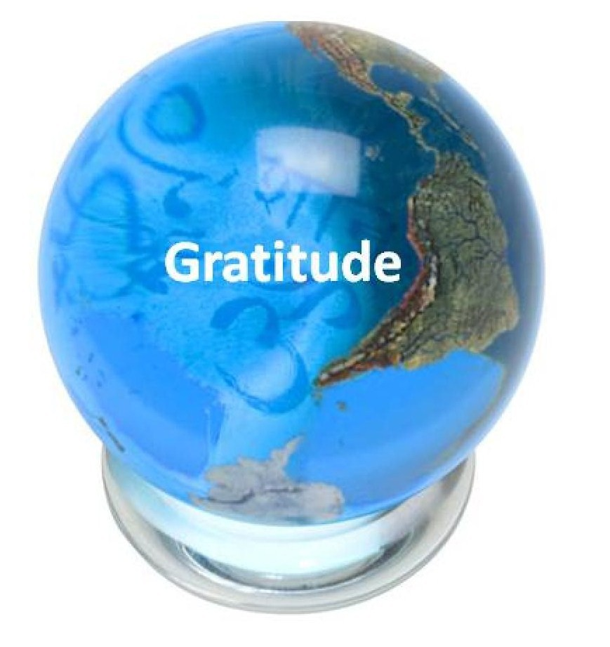 Gratitude Peace Marble