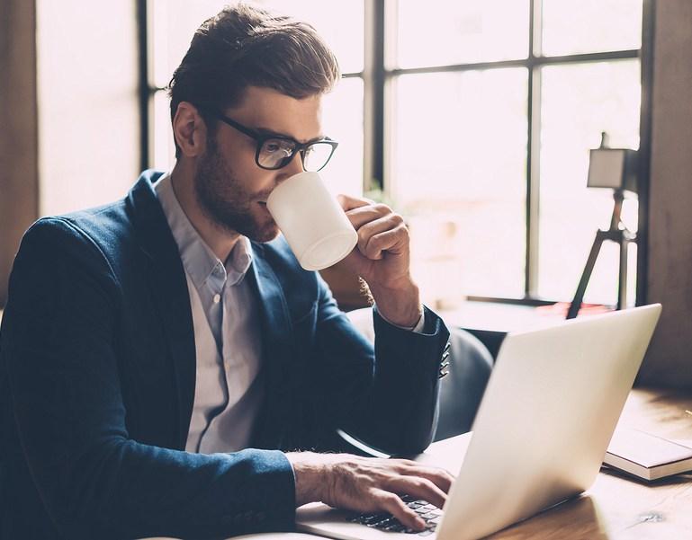 SandyHibbardCreative.com blog man drinking coffee planning fall marketing ideas